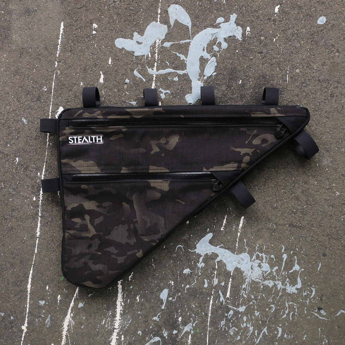 Multicam Black custom frame bag for bikepacking