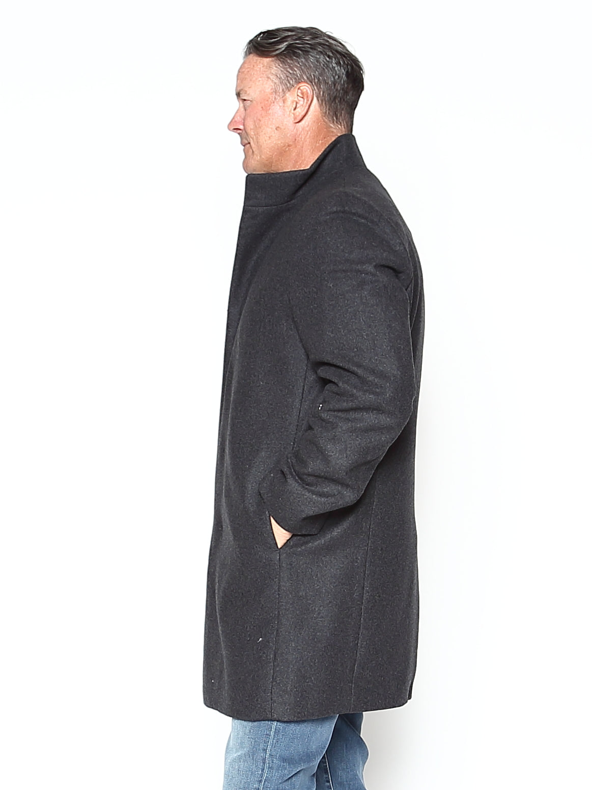 Stretch Melton Belvin Coat