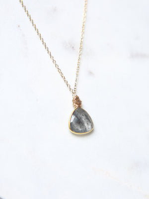 Agate Tear Necklace