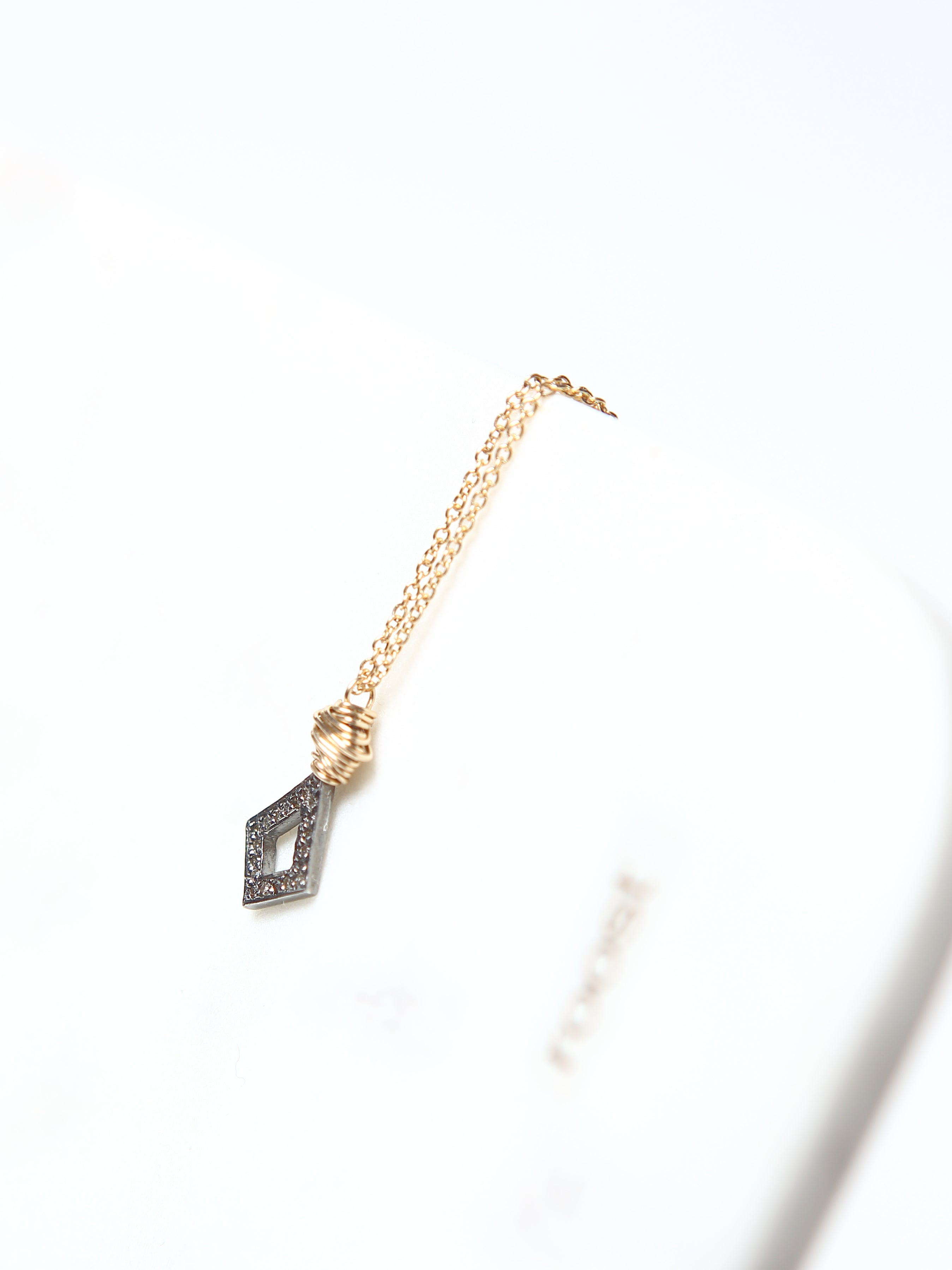 Pave Diamond Delicate Necklace