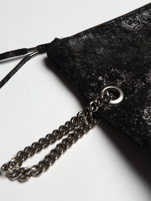 Metallic Mudsplash Chain Clutch