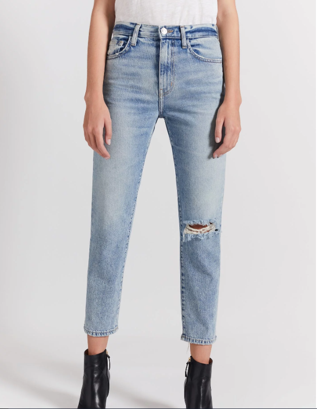 The Vintage Cropped Slim Jean | Rigid Indigo