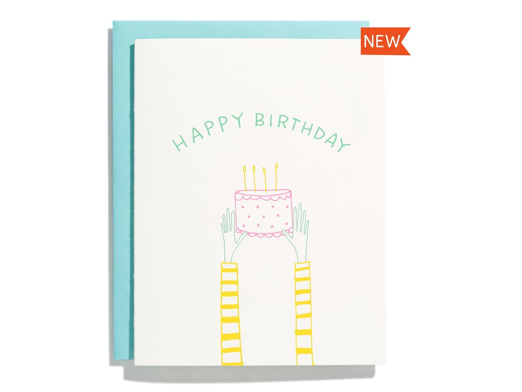 Holding Cake Birthday Card