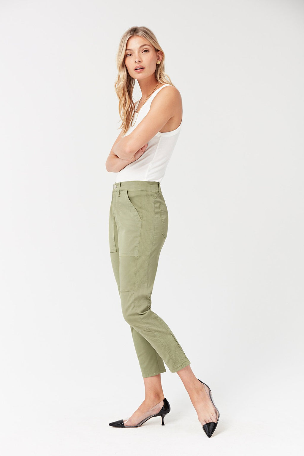 Simone Trouser | Light Moss