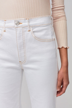 Joni Wide Leg Jean | Winter White