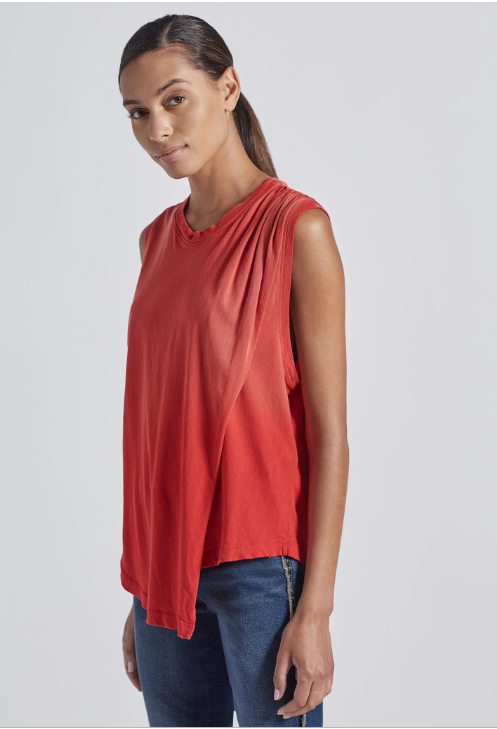 The Night Out Tank in Lipstick Red