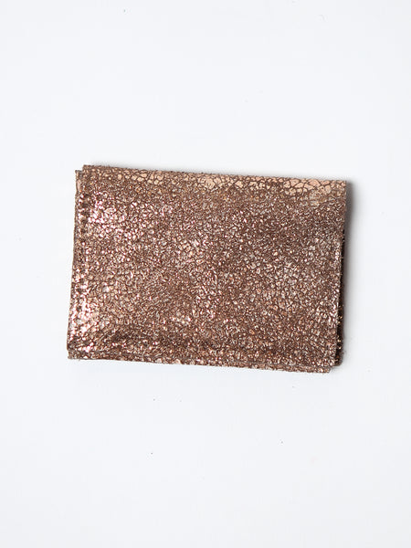 Rose Gold Leather Card Case