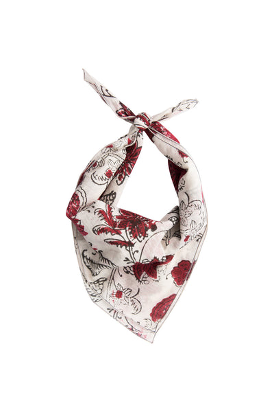 Crimson Floral Neckerchief
