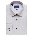White & Merlot Micro Dot Dress Shirt