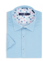 Blue Flip Flop Print Short Sleeve Shirt