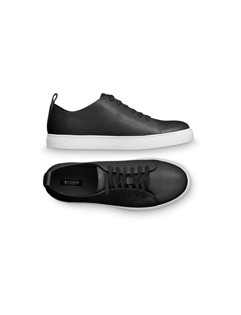 Black leather sneaker Tiger Of Sweden
