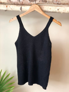 Black Sweater Tank