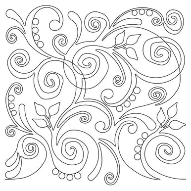 Swirl Party Long Arm Quilting Pattern