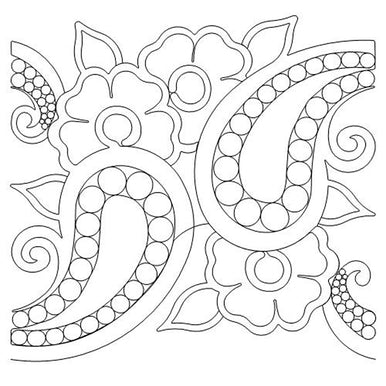 Pearl Paisley Long Arm Quilting Pattern