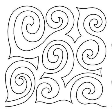 Swirls 4 Long Arm Quilting Pattern