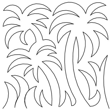 Palm Trees Long Arm Quilting Pattern