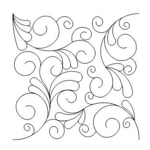Swirls And Feathers Long Arm Quilting Pattern