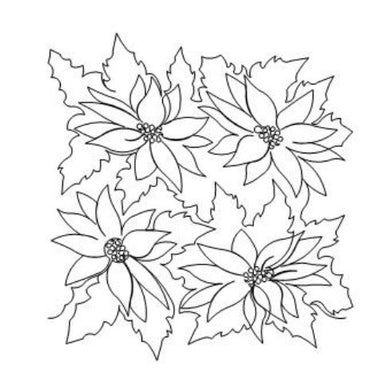Poinsettia Long Arm Quilting Pattern