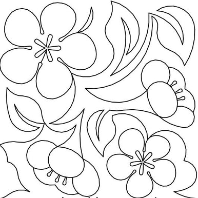 Plum Blossoms Long Arm Quilting Pattern