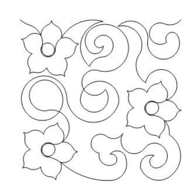 Flower Swirls Long Arm Quilting Pattern
