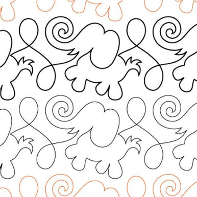 Animal Crackers Elephants Long Arm Quilting Pattern