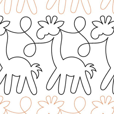 Animal Crackers Giraffes Long Arm Quilting Pattern