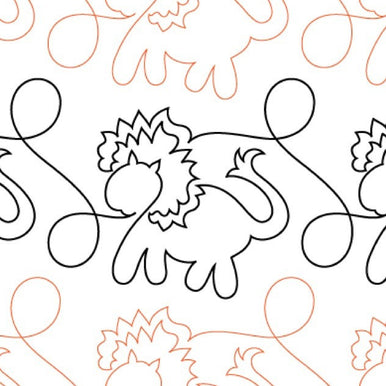 Animal Crackers Lions Long Arm Quilting Pattern