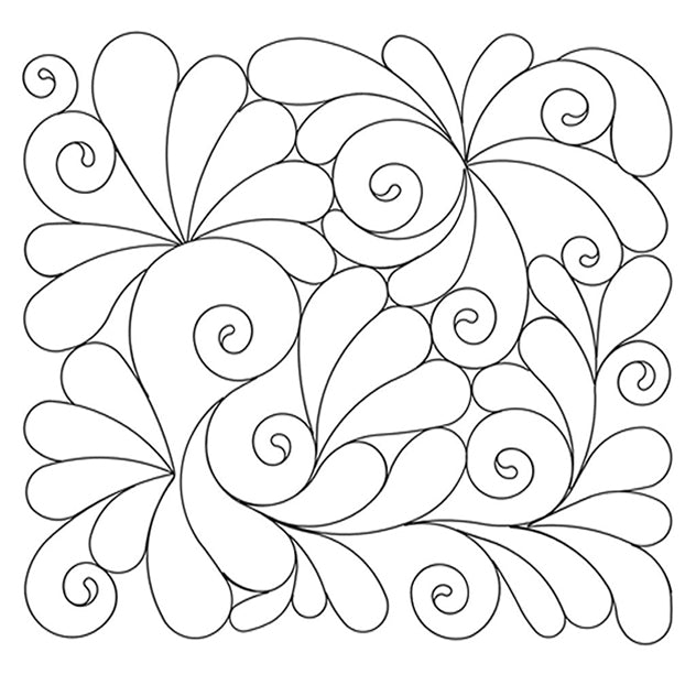 Feathered Swirls Long Arm Quilting Pattern