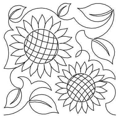 Sunflowers Gridded Long Arm Quilting Pattern