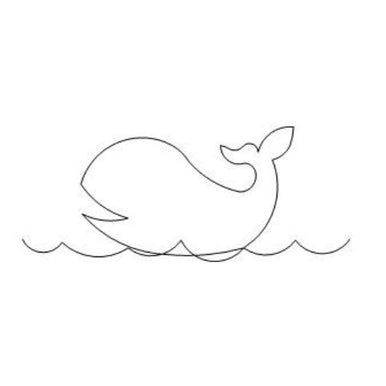 Whale Long Arm Quilting Pattern