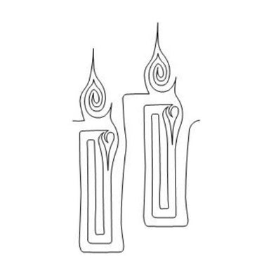 Candle Long Arm Quilting Pattern