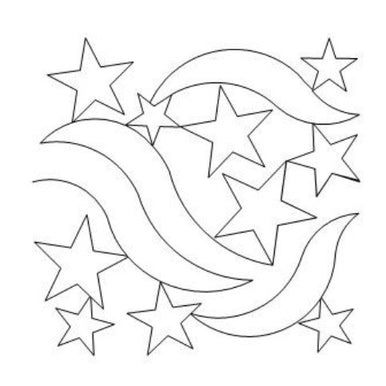 Star Spangled Banner Long Arm Quilting Pattern