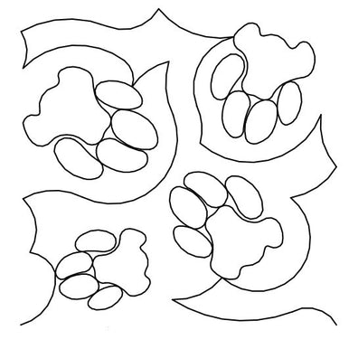 Cat Paws Long Arm Quilting Pattern