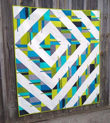 Fractured quilt pattern by Thangles