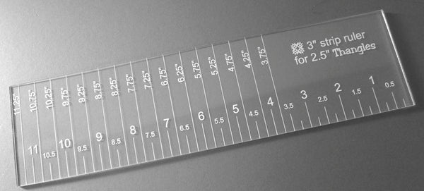 "3"" strip ruler for use with 2.5"" Thangles"