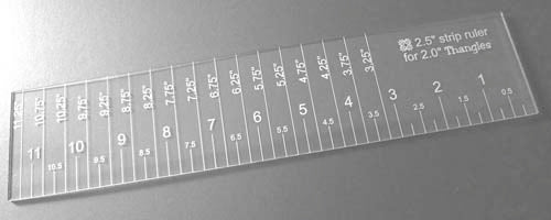"Thangles 2.5"" Strip ruler for use with 3"" strips"