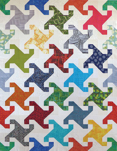 Thangles Snail's Trail Project Pack lap sized quilt