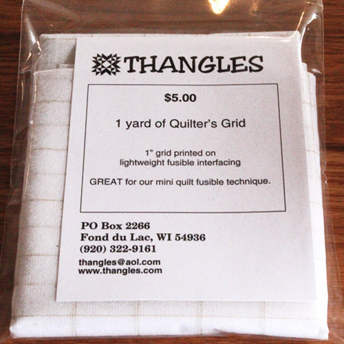 "Thangles 1 yard fusible printed with 1"" grid"