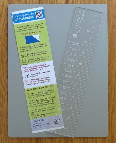 "2.5"" strip ruler for use with 2"" Thangles"
