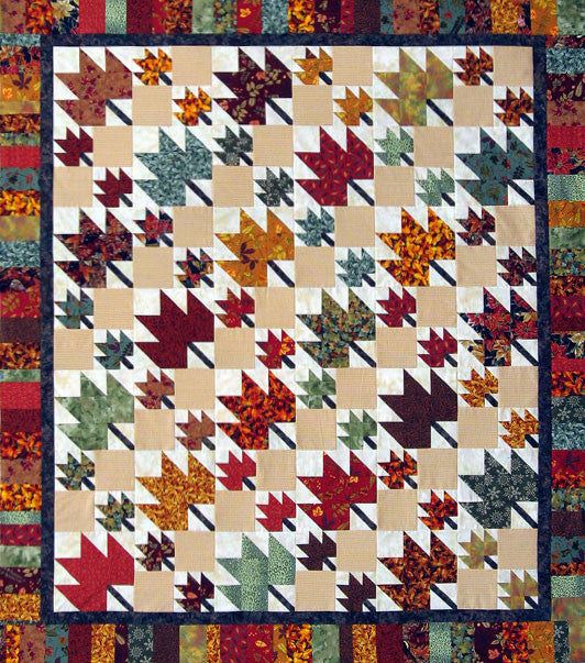 thangles autumn leaves quilt project pack