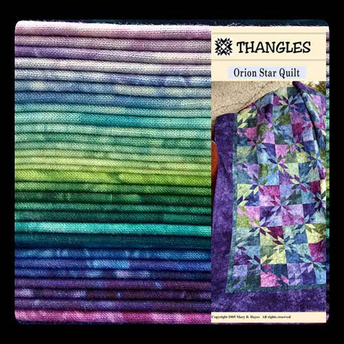 Thangles Orion Star quilt kit with fabric and project pack