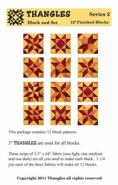 "Thangles Block Cards - Series 2 from 3.5"" strips"