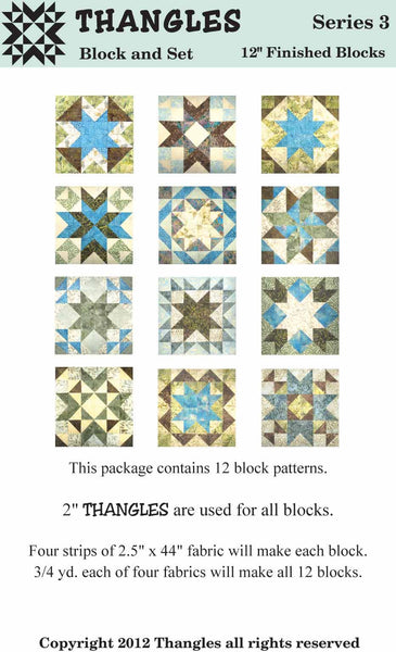 "Thangles Block Cards - Series 3 from 2.5"" strips"