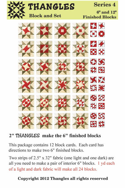 "Thangles Block Cards - Series 4 from 2"" strips"