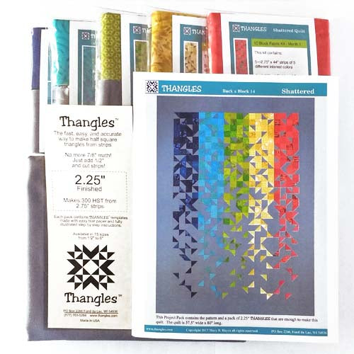 Thangles Shattered Quilt Complete Kit with Fabric and Project Pack