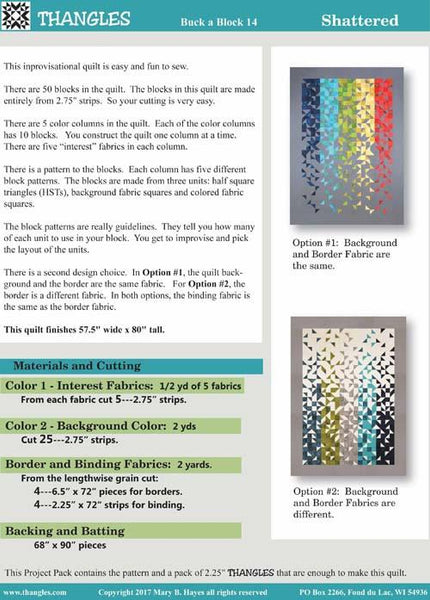 Shattered Modern Quilt - Quilt Kit with grey, white, blue, green colors