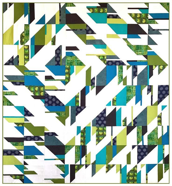 Fractured Modern Quilt Pattern by Thangles - Max Sliced Variation