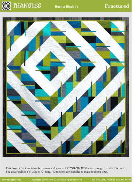Fractured Modern Quilt Pattern by Thangles - quilt pattern front