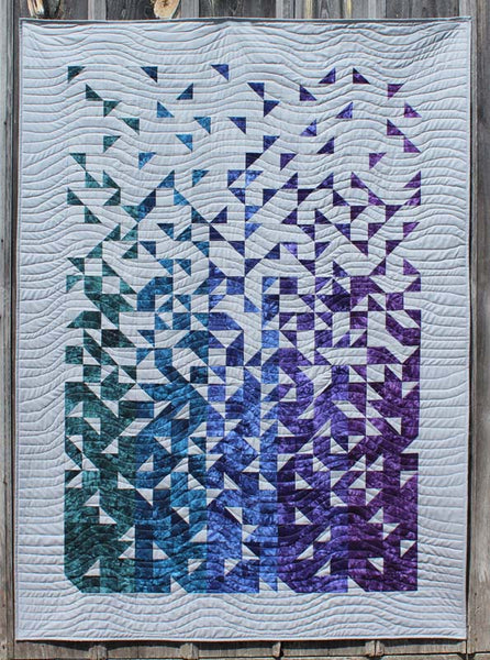 shattered quilt by thangles starr designs2 kit - green, blue, purple colorway