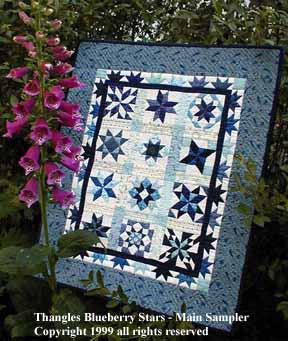 Thangles Blueberry Stars Mini Quilt collection